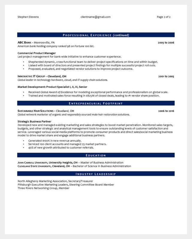Sr Business Leader Page 2